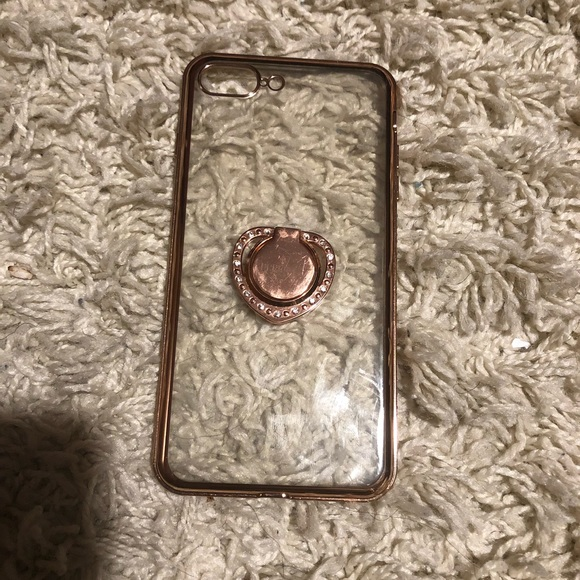 Accessories - Rose Gold/Clear Case for 8 Plus